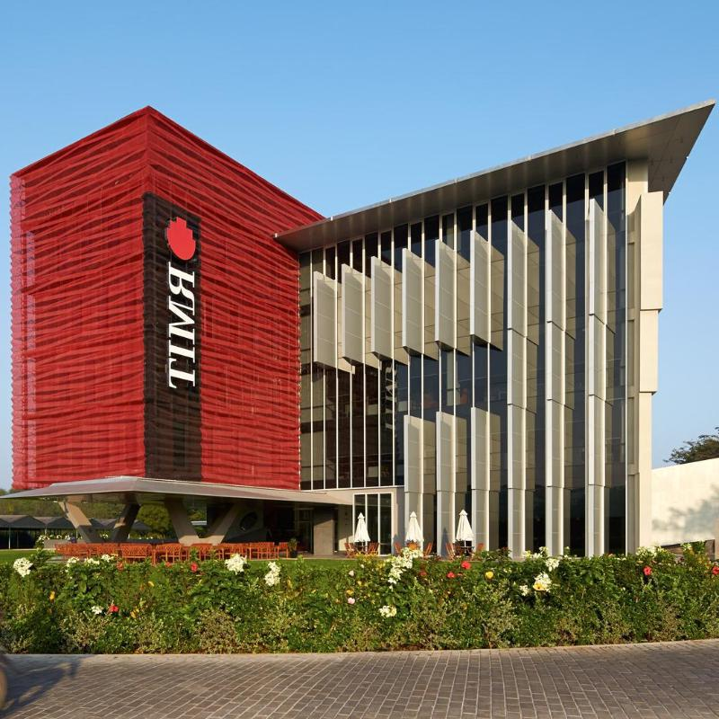 Building with RMIT logo